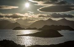 Henningsvær, Heimøya, Lofoten Islands, Norge (North Face) Tags: norway norwegen norge islands sunset ocean sea see water mountains clouds summer nature landscape seascape istand canon eos 5d mark iii 5d3 24105l midnight sun
