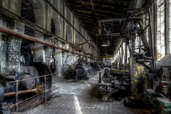 Steam Engine Alley (Fine ArtFoto) Tags: urbex artfoto gestern dream wwwfineartfotocom urban exploration urbexart urbandecay lost place lostplaces lostplace decay decaying discard discarded old oblivion alt abandoned forgotten vergessen verlassen derelict aufgegeben rotten verottet industrie industry walzwerk roller mill walze dampfmaschine dampmaschinen produktionshalle production hall steam engine alley