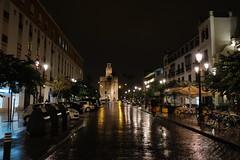 XE3F6228 (Enrique Romero G) Tags: torredeloro calle almirante lobo lluvia rain noche nocturna night spain fujixe3 fujinon18f2