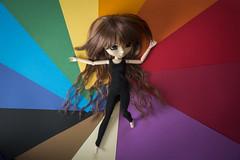 """I like bold colors but usually wear black"" (Erla Morgan) Tags: doll pullip pullipsouseiseki souseiseki souki erlamorgan groove junplanning obitsu wig chips 52dollyweekproject down color colourful black mayimbialik"