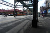 Myrtle Avenue El (Blinking Charlie) Tags: myrtleavenue elevatedtrain el supportstructure abandoned bushwick brooklyn newyorkcity newyork usa 2017 lightandshadow nyc foodbazaar sonydscrx100m3