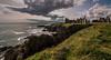 Slains Castle (Matthias-Hillen) Tags: scotland schottland aberdeenshire united kingdom coast küste grosbritanien landscape landschaft sea water see wasser highland highlands new slains castle ruin ruine klippen steilküste felsen rock stone stein wolken sky clouds himmel matthias hillen matthiashillen