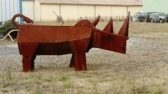 DSC_0152 (Benoit Vellieux) Tags: saintvallier france sculpture countryside iron ironwork fer ferronnerie eisen kunstschmiedehandwerk rhinoceros nashorn campagne land valléedurhône rhonevalley rhonetal beausemblant