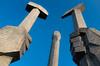 Monument to Party Founding (Mike Brönnimann) Tags: northkorea dprk korea socialism juche art dprkorea kimjongun kimilsung kimjongil koryo streetart propagandaart stadt gebäude architektur