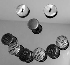 """Go on Smile"" (seanwalsh4) Tags: 7dwf thursdaysbworsepia motherofpearlbuttons old shell jeans buttons makemesmile happy fun nice joke laugh humour"