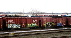 tint - ICH - nere - bale (timetomakethepasta) Tags: tint ich nere bale yme 63 freight train graffiti art cn boxcar canadian national wc wisconsin central benching selkirk new york