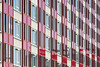 Red Facade (Jan van der Wolf) Tags: 17242v apartmentbuilding red rood leiden perspective perspectief flat facade windows gevel gebouw architecture architectuur