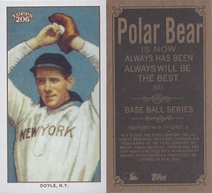 2002 Topps 206 Mini Baseball Card / Series 2 / Polar Bear - JOE DOYLE / REP (N.Y. / Hands Above Head / Corrected Card) #301A (New York Highlanders / American League) (Baseball Autographs Football Coins) Tags: series1 series2 series3 2002 2003 topps 206 topps206 baseball polarbear sweetcaporalred sweetcaporalblack cycle carolinabrights blackpiedmont redpiedmont uzit masterset sweetcaporal sweetcaporalblue blue mini redtolstoi blacktolstoi card minicard baseballcard 2002topps206 t206 joedoyle slowjoedoyle error correctedcopy nynatl newyorknational nyhighlanders pitcher