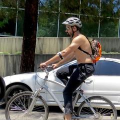 IMG_0368 (danimaniacs) Tags: shirtless man guy mansolo bike bicycle cap helmet beard scruff nipple backpack