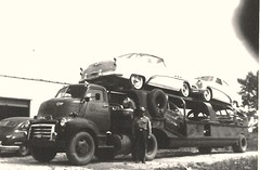 GMC COE, FJ Boutell (PAcarhauler) Tags: carcarrier gm chevrolet buick semi truck trailer