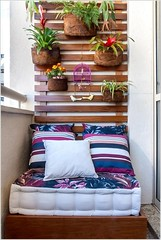 Colorful Balcony Designs With Reading Nook with Floor Seating (kreatecube) Tags: kreatecube interiordesign interiordesigns tinybalcony balcony balconydecor topinteriordesignersdelhi topinteriordesignersindia