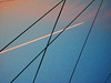 out! (woolgarphilippe) Tags: lines sky cables cable abstract abstrait grain grainy