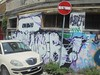 299 (en-ri) Tags: shake muer odio bianco nero lilla arrow bologna wall muro graffiti writing