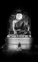 A version of Buddha (ajecaldwell11) Tags: bagan statue stupa temples buddha blackandwhite bw myanmar ankh xe2 fujifilm caldwell