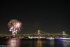 10分限りの冬の花火 (forever.tarachan) Tags: 夜景 花火 レインボーブリッジ 豊洲 bridge