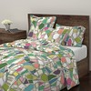 BROKEN large Roostery full bed (Scrummy Things) Tags: shatteredglass sharonturner illustration pattern surfacedesign fragments home tech scrummy roostery bed sheets spoonflower fragmentation