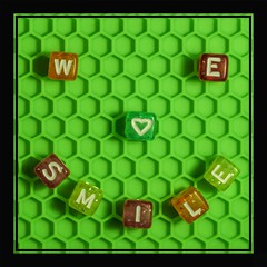 Smile!!! (clarkcg photography) Tags: smile smileyfacewelovesmile smileonsaturday green hexagon square cubes letters selfmadesmiley gogreen flickrfriday squarecubes squareframe squarecrop tuesdaycrazythemesquare 7dwf