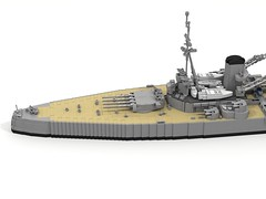 King George V WIP Update (ABS Shipyards) Tags: lego king george v battleship warship naval ship royal navy micro ldd render wip
