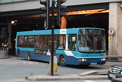 AY 1414 @ Doncaster Frenchgate bus station (ianjpoole) Tags: arriva yorkshire vdl sb200 wright commander yj57bvy 1414 working route 496 doncaster frenchgate bus station wakefield