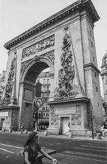 Paris: Porte Saint-Denis (McFarlaneImaging) Tags: 11 2015 35mm 400 analog bw blackandwhite canon europe eurotrip fd ftb film france fromage homedeveloping iso1600 kodak mci paris portesaintdenis pushprocess slr travel trix triumphalarch vacation xtol mcfarlaneimagingcom