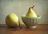 One Out - One In (Through Serena's Lens) Tags: stilllife naturallight closeup tabletop portugal rochapear yellow pears texture fruit sweet juicy crunchy bowl ceramic 7dwf
