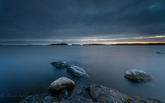 November Blues (Mika Laitinen) Tags: balticsea canon5dmarkiv europe finland helsinki leefilters suomi uutela vuosaari blue cliff color landscape longexposure nature ocean outdoors sea seascape shore sky sunset water