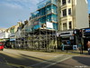 The Scaffold Cathedral, Hastings. (tony allan tony allan) Tags: hastings scaffold refurbishment street town shops nikon coolpix p500