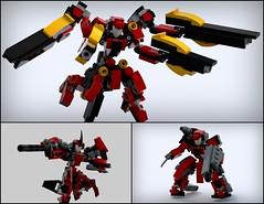 "KF-4(re) ""Kindeva"" - Test Types (phayze81) Tags: lego moc scifi frame mobileframezero rapidattack bluerender ldd microscale"