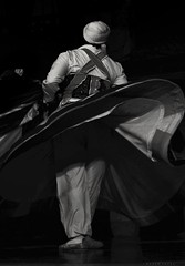 Tanoura Dance ... This Is Egypt (Hazem Hafez) Tags: tanouradancer egypt folklore heritage traditional historical cairo dace history oldcairo mysticcairo charming music oriental orientalnight turning blackwhite moving
