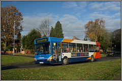34644, Ashby Road (Jason 87030) Tags: stagecoach midlands pointer dart slf dennis blue orange red white hill road daventry d4 northants northamptonshire trees sony alpha a6000 ilce nex lens tag publictransport gx54dwp 34644 bus vehicle