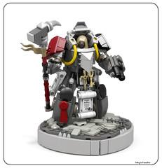 Grey Knights Librarian - Terminator armor (Faber Mandragore) Tags: wip lego moc sci fi mecha powersuit warhammer 40k space marine knights terminator librarian warp grey