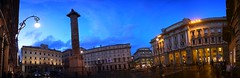 IMG_0266_stitch (AndyMc87) Tags: colonna di marco aurelio blue hour piazza stitch ice panorama canon eos 6d 2470 l palazzo chigi quotidiano il tempo via del corso mall shopping center travel holiday rom rome roma sky clouds lights ilumination sunset dämmerung architecture outdoor galleria alberto sordi fontain cars