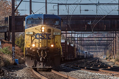 CSXT Q404 @ Langhorne, PA (Darryl Rule's Photography) Tags: 2017 ballastcars ballasttrain buckscounty csx csxt catenary clouds cloudy diesel diesels dobryrd eastbound fall freight freightcar freighttrain freighttrains ge gevo heacockrd inbound langhorne mixedfreight november outbound oxfordvalley pa pennsylvania qa24 railroad railroads readinglines readingrailroad regionalrail septa silverliner silverlineriv sun sunny train trains trentonsub w0038 westtrentonline westbound worktrain yn2