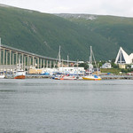 Arctic Church in Tromsø with a bridge over trouble water  - Eismeerkathedrale thumbnail