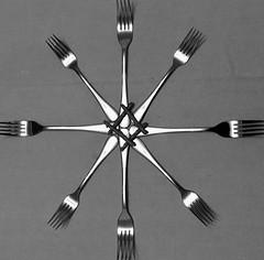 21/11 Fork Handles (garyjones1959) Tags: ronnie barker corbett candles fork birthday cutlery bbc ronnies two comedy monochrome white bw black iphone 3652017 365