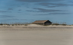 Rustic Beach Life (EXPLORE!) (riqwammy) Tags: beach cabin sky sand dunes grass structure house camping island capelookout northcarolina nikon d750 outside outdoors recreation clouds plants