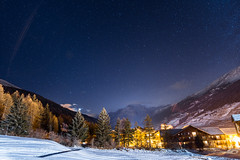 Val cenis by night (Judge_This) Tags: moutains night stars blue clouds sky lake italian french alps holidays montagnes nuit étoile bleu nuages lac italie france alpes vacances