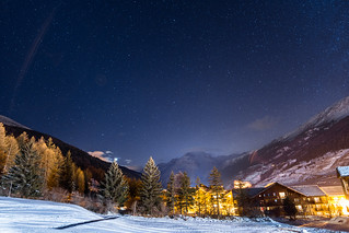 Val cenis by night