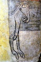 éléphant, fresque murale, église de Gourdon (71) (odile.cognard.guinot) Tags: gourdon saôneetloire bourgogne bourgognefranchecomté églisenotredamedelassomption peinturesmurales 12esiècle éléphant artroman 71