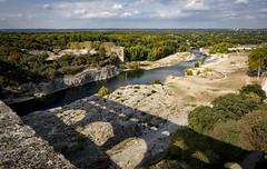 View from the top (cliveg004) Tags: pontdugard roman aqueduct rivergardon river bridge shadow arches water ancient worldheritagesite france nikon d5200