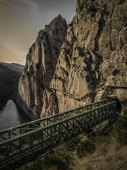 Caminito del Rey - Railway bridge (mvnfotos) Tags: andalusia bridge caminitodelrey spain railway