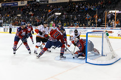 "Kansas City Mavericks vs. Kalamazoo Wings, November 29, 2017, Silverstein Eye Centers Arena, Independence, Missouri.  Photo: © John Howe / Howe Creative Photography, all rights reserved 2017 • <a style=""font-size:0.8em;"" href=""http://www.flickr.com/photos/134016632@N02/38713479792/"" target=""_blank"">View on Flickr</a>"
