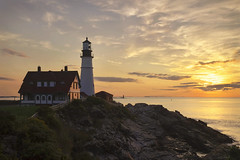Good Morning Portland (NYRBlue94) Tags: portland maine lighthouse light atlantic sunrise early morning oceanscape newengland coast rock