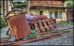 Industrial Archeology N°12  (Sardegna) (celestino2011) Tags: cisterna rotaie abandoned sardegna ruggine