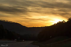 Sunrise on the highway (Irina1010) Tags: sunrise sky golden clouds light beautiful morning highway cars canon