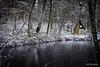 Die Hütte am See (koriography [NonPro]) Tags: hut hütte see lake pond mirror winter wintertime snow dezember december fujifilmxt2 fujifilm xf1655mm28