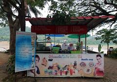 fruit shake stand by the Mekong River (_gem_) Tags: travel luangprabang laos asia southeastasia rural countryside nature country mekong mekongriver river fruitshake smoothie vendor stall streetfood streetfoodvendor smallbusiness foodcart