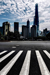Shanghai - Les tours de Pudong (Gilles Daligand) Tags: chine china tours towers pudong olympus omdem5 ville gratteciel