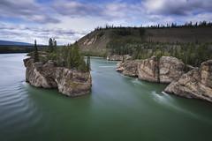The Rolling Yukon River (andrewpmorse) Tags: yukon yukonterritory yukonriver longexposure northerncanada rocks river rapids fivefingerrapids landscape landscapes canon 1635mmf4l leefilters leebigstopper leelandscapepolarizer lee06ndgrad travel island