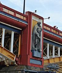 Vauxhall Bridge - Education (Dun.can) Tags: vauxhallbridge red bridge london river thames alfreddrury education victorian statue